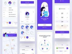 Trunow - Mobile App by Michal Parulski for widelab on Dribbble Mobile App Design, Android App Design, Navigation Design, App Ui Design, Design Design, App Badges, Dashboard Mobile, App Map, Software