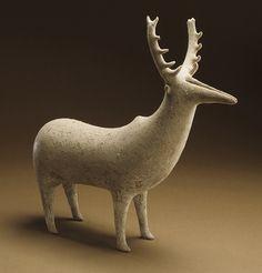 /\ /\ . Zoomorphic Deer Vessel, 1350-1000 BC, Northern Iran