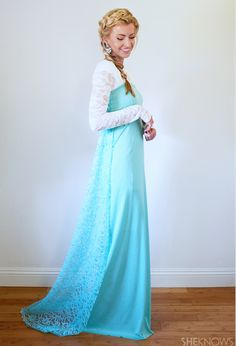 Disney Costume Ideas - If you have basic sewing skills this Frozen Elsa Costume will be easy and cheap to make. It will look really good at a Frozen Themed Party or as a Fancy Dress Costume.