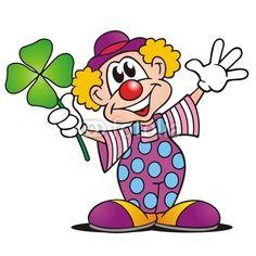 Clown mit Kleeblatt