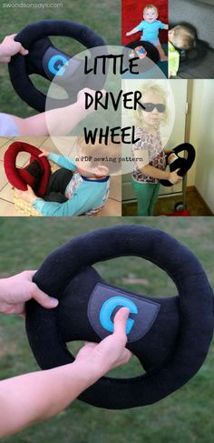 Little Driver Wheel - a PDF sewing pattern from Swoodson Says. Perfect for imaginative play - add a box, go on a road trip, or snuggle up for bed!