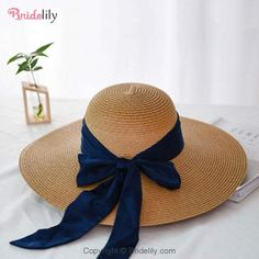 Fashion Wide Brim With Bowknot Straw Hats Wide Brim Sun Hat, Wide Brimmed Hats, Summer Hats For Women, Hats For Men, Mens Straw Hats, Fashion Mumblr, Floppy Hats, Stylish Hats, Wide-brim Hat