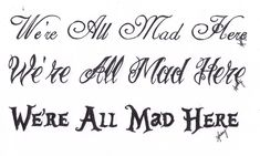 We're All Mad Here. by Tripptych.deviantart.com on @deviantART