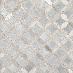 Valentino Bardiglio Tulip Polished Marble Mosaic - 13 x 13 - 100463397 - Flooring Decor Home Design, Design Ideas, Interior Design, Marble Mosaic, Mosaic Glass, Valentino, Stone Tiles, Tile Wood, Wall Tile