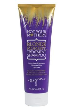 Sulfate and paraben free<br><br>Not Your Mother's Blonde Moment Treatment Shampoo in 8 oz is for natural or color-treated blonde hair types. This blonde shampoo neutralizes brassiness, enhances shine and hydrates. Lila Shampoo, Purple Shampoo And Conditioner, Blonde Hair Types, Blonde Hair Care, Blonde Hair Products, Home Design, Purple Shampoo For Blondes, Brassy Hair, Hair