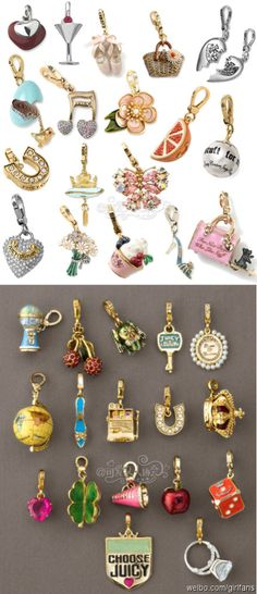 a hodge podge of colorful charms - LOVE!
