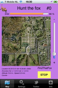 Ischa Berghuis van Winden | Navigation | iPhone | HuntTheFox $0.00 | ver.1.3| $0.99 | Lets play Hide and Seek via Twitter and/or Facebook:The main function of this application is to periodically send status updates on social media ...