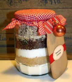 Cookies Im Glas, Tiramisu, Diy Gifts, Panna Cotta, Pudding, Baking, Ethnic Recipes, Glass, Cookie Monster