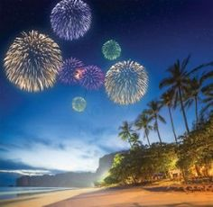 "Happy New Year 2019 Card - Christmas New Year Celebrations ""Fireworks at Beach"" Happy New Years Eve, Happy New Year 2018, New Year New You, New Year Wishes, New Year Card, New Year Quotes Images, Happy New Year Quotes, Happy New Year Images, Quotes About New Year"