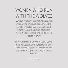 women who run with the wolves Wolf Quotes, Me Quotes, Qoutes, Bad Boss Quotes, Wild Women Quotes, Free Spirit Quotes, Wolf Book, Monthly Quotes, Wolves And Women