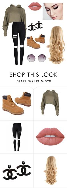 """Untitled #64"" by paigevjacobs on Polyvore featuring Timberland, Lime Crime and Monki"