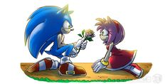 Sonic And Amy, The Sonic, Sonic The Hedgehog, Shadow And Maria, Sonamy Comic, Sonic Adventure, Amy Rose, Freedom Fighters, Art Girl