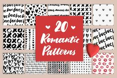 20 Romantic Patterns by Type and Graphics Lab on @creativemarket