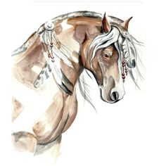 Original paintings horses, Wild horse art, Mustang Horses watercolor... ❤ liked on Polyvore
