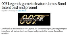 007 Bond, James Bond They should include a gold finger to use when your playing, this really is the ultimate in gaming nostalgia.