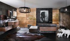 Casa de banho exótica - http://www.dicasdecoracao.com/casa-de-banho-exotica/