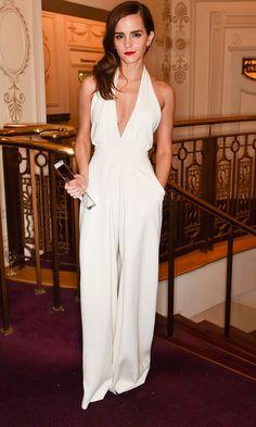 Emma Watson Made A Style Statement In A Wide-Leg Misha Nonoo Jumpsuit
