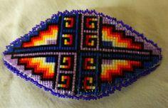 Hand Made Native American Beautiful Bright Beaded Hair Barrette NEW!