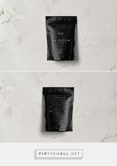 Capricho - Black Packaging   Matte Black Stand Up Pouch