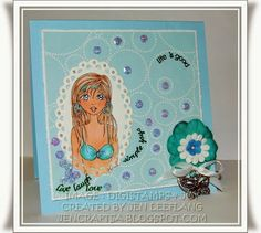 One of my own drawings called Cody's Girl Crafty, Drawings, Projects, Cards, Amp, Image, Sketches, Blue Prints, Draw