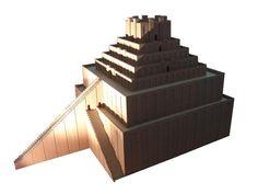 Maquette proposant une reconstitution de la ziggurat de Babylone, Pergamon Museum.