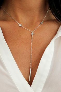 Galactic Bar Y Necklace - Christine Elizabeth Jewelry - Glamour and Glow