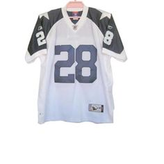 Felix Jones White Jersey $19.99 This jersey belongs to Felix Jones, Dallas Cowboys #28  Color: white, Size: M, L, XL, XXL, XXXL  The jersey is made of heavy fabric with nylon diamond weave mesh