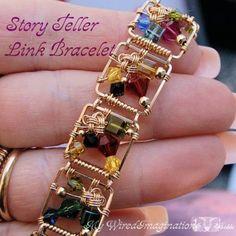 Story Teller Link Bracelet - Wire Wrap Jewelry Bracelet Tutorial - Instant Downloadable PDF File