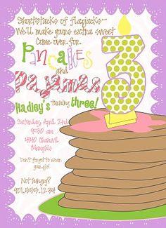 Pancakes and Pajamas...LOVE this theme!!