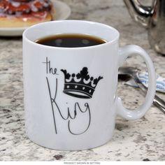 King Porcelain Drinking Mug | Coffee Mugs For Him | RetroPlanet.com
