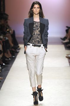 Isabel Marant RTW Spring 2014, #14 / I love the top and the jacket.  The lapels are perfect.