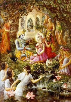 Krsna Srimati Radha Rani. With love , your eternal servant .