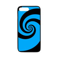 """BLACK & BLUE SWIRL Rubber Case for iPhone 7 plus (5.5"""")"""