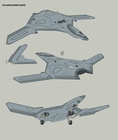 Air carrier drone fighter by TimoKujansuu on DeviantArt Spaceship Art, Spaceship Concept, Space Fighter, Fighter Jets, Military Jets, Military Aircraft, Drones, Alien Ship, Flying Vehicles