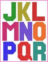 Cross stitch/pixel alphabet