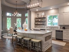Designed by The Design Firm in Stafford, Texas #interiors #interiordesignideas #design #interiordesign #interiordesigners #kitchen #kitcheninspiration #kitchenisland #openconcept