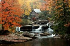 I love old mills ~ this is especially beautiful with the waterfalls.