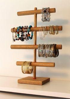 Soft Weathered Oak & Coral Hemp Jewelry Organizer READY TO SHIP The Chi Bracelet…