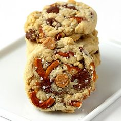 Pretzel cookies with chocolate/peanut butter chips