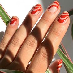 17 Gorgeous Red Nail Design Ideas You Need to Try - - Make your nails pop with these hot red nail designs that command attention and look amazing. Stylish Nails, Trendy Nails, Cute Acrylic Nails, Gel Nails, Nail Nail, Red Tip Nails, Emoji Nails, Pop Art Nails, Swirl Nail Art