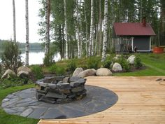 Outdoor Spaces, Outdoor Living, Outdoor Decor, Summer Cabins, House Yard, Cabins And Cottages, Yard Design, Cabins In The Woods, Outdoor Gardens