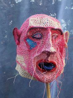 """Angry man"" by artist Johanna Schweizer. Netherlands   Amazing work by Johanna Schweizer. I wonder if this mask tries to remind us of our origins."