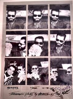 1975 - Karl Lagerfeld, Jose   Jacques de Bascher instamatic by Antonio  Lopez. The Muse Collector 5f0b5a8cb527