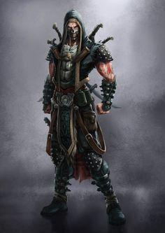 skull mask Assassin thief rogue DnD RPG D&D ArtStation - Concept Art: 7SINS, Kenny Mok