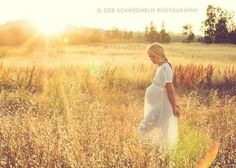 Love casually walking through a meadow with a baby inside me