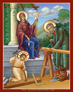 Holy Family House of Nazareth icon from Monastery Icons