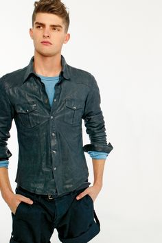 Paolo Anchisi | Dolce & Gabbana SS12 Lookbook...blue leather shirt