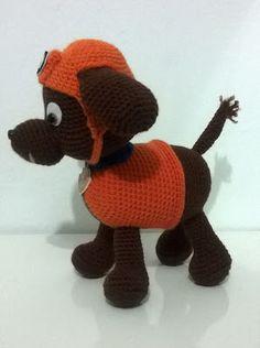 "La Comunidad del Ganchillo: Patron Zuma ""Patrulla Canina"" Parte 1 Crochet Teddy, Knit Or Crochet, Crochet Toys, Free Crochet, Crochet Baby, Zuma Paw Patrol, Patron Crochet, Crochet Amigurumi Free Patterns, Amigurumi Patterns"