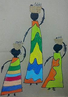 Mrs. Allen's Art Room: African Kanga Compositionss