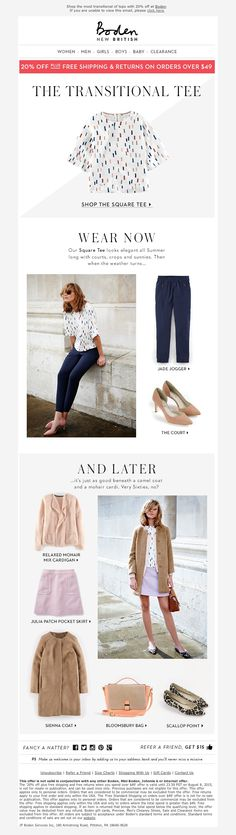 Boden - This top demands to be worn ALL the time (Wear NOW & LATER editorial)